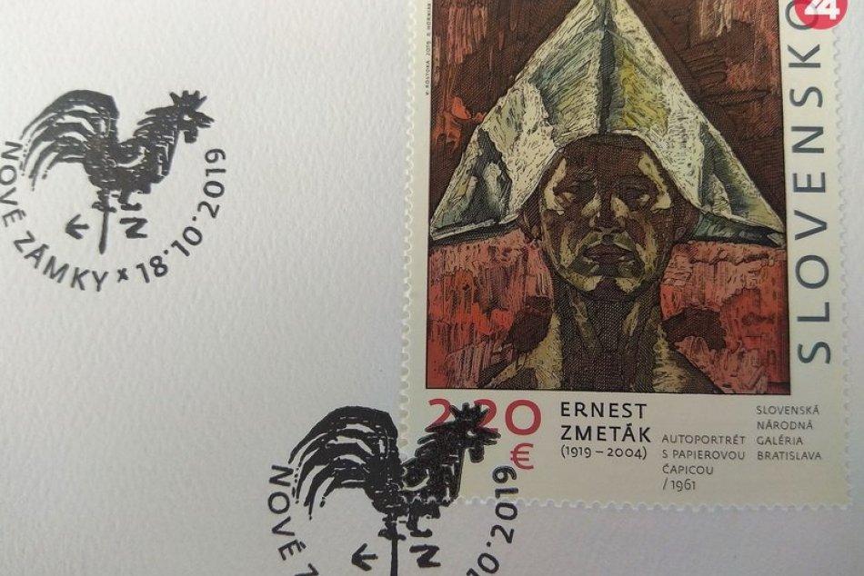 Pocta pre Ernesta Zmetáka z Nových Zámkov: Pošta vydala známku s jeho podobizňou