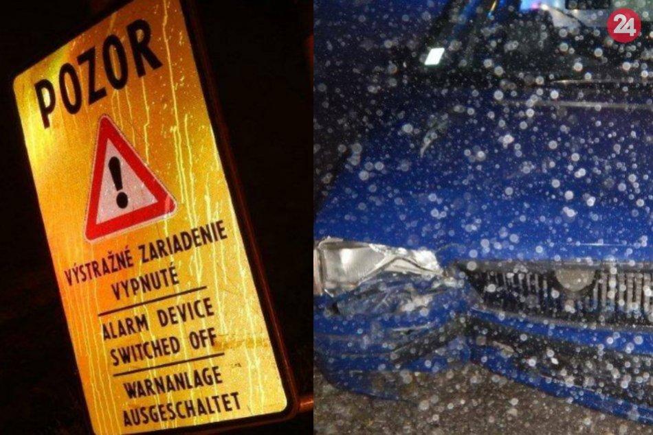 Auto vrazilo do stĺpa svetelnej signalizácie