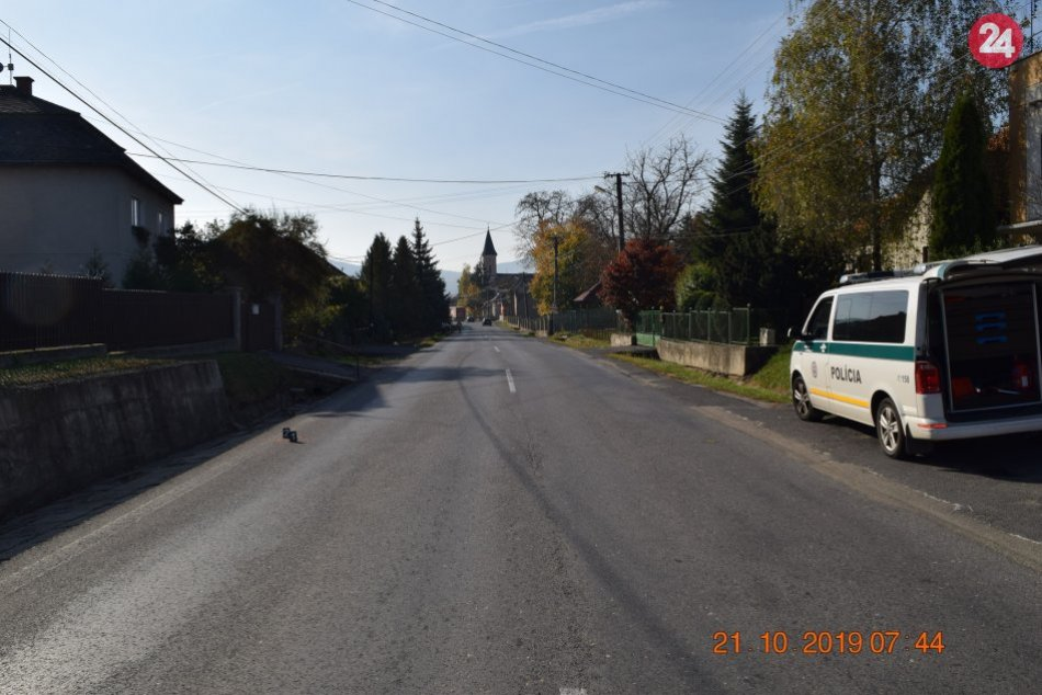 Dopravná nehoda v obci Radzovce