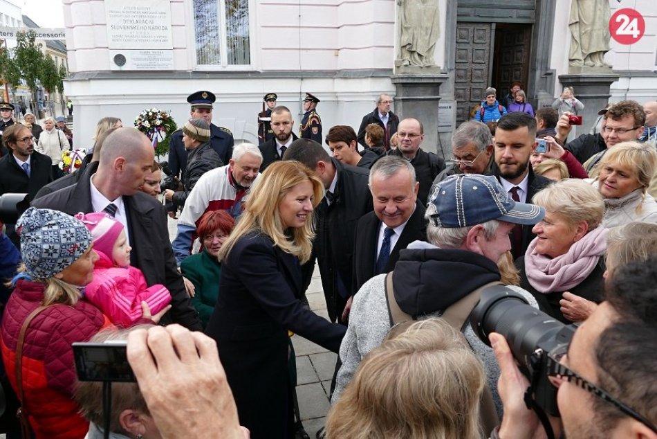 FOTO z prezidentskej návštevy v Martine: Zuzana Čaputová v našom meste