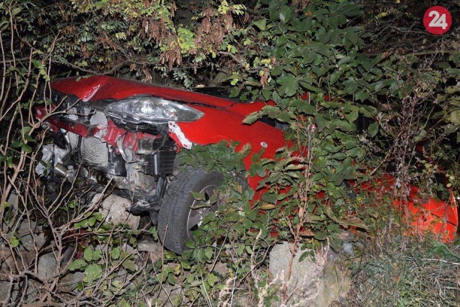 Muž z Kmeťova skončil s autom v priekope