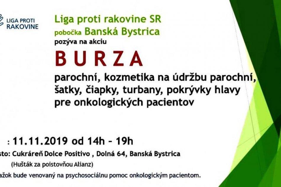 Burza parochní pre onko pacientov v Banskej Bystrici