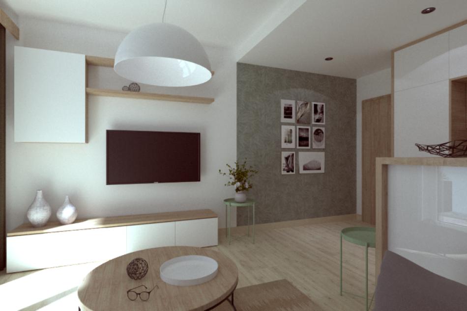 Byty Barbora: Vizualizácia interiéru