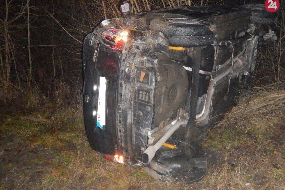 FOTO: Výsledok nehody pri Upohlave, vodič (22) nafúkal cez 2 promile