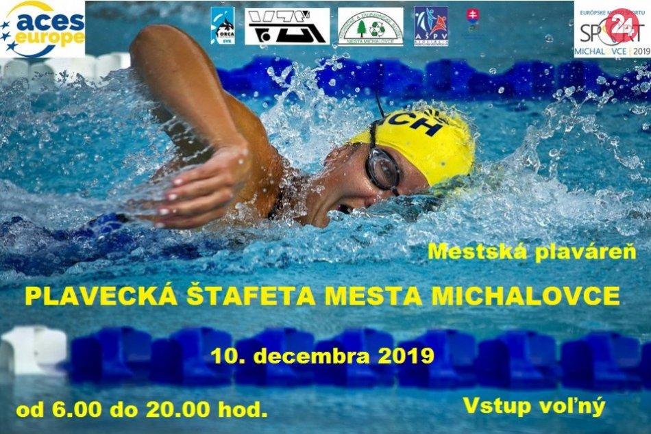 Plavecká štafeta mesta Michalovce