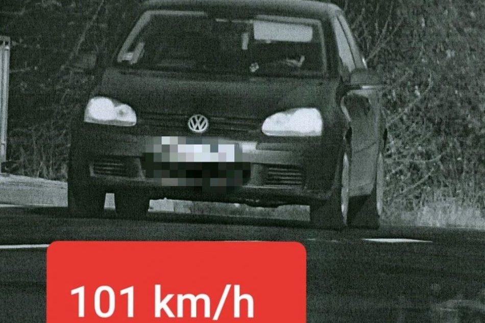 Vodič v obci prekročil rýchlosť o vyše 50 km/h