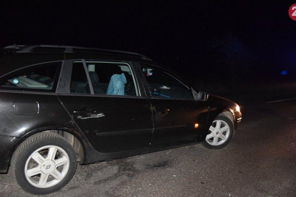 FOTO z nehody na ceste I/64 mimo obce Nitrianske Pravno v okrese Prievidza