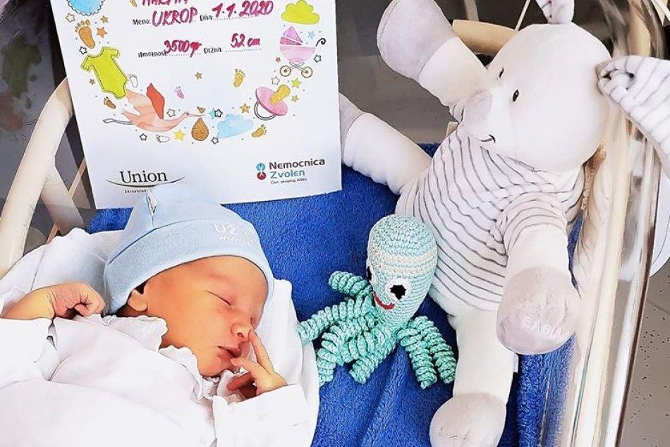 V OBRAZOCH: Martinko je prvým bábätkom roka 2020 v Nemocnici Zvolen
