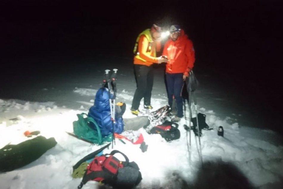 Horskí záchranári našli mladíka nad obcou Slaská