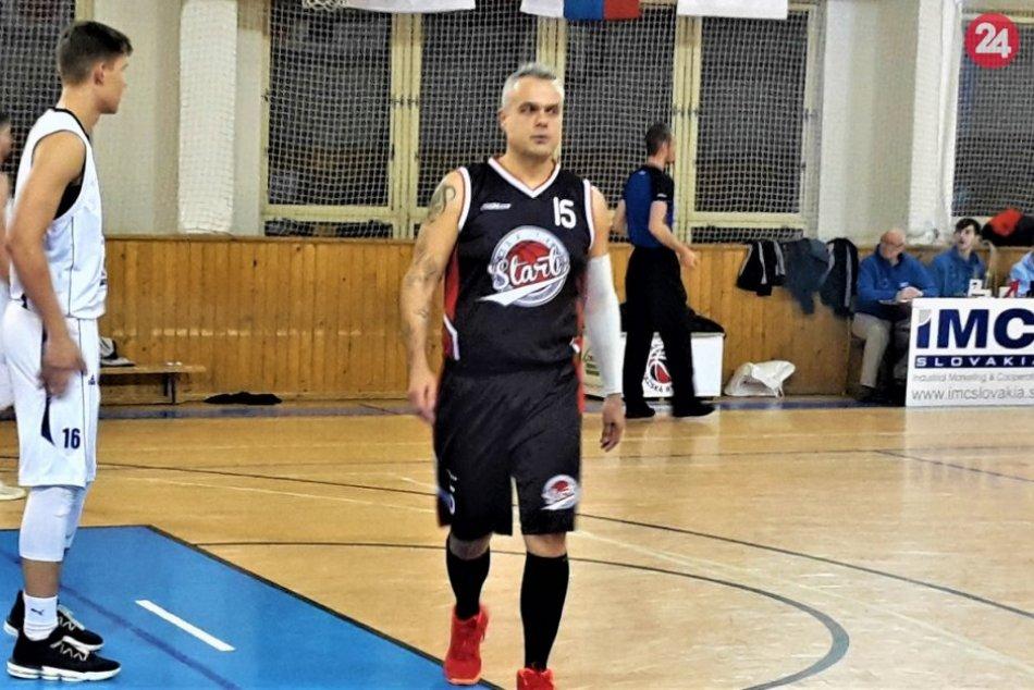 FOTO: Považskobystrickí basketbalisti vyhrali nad ŠKP, zahral si aj Jaro Slávik