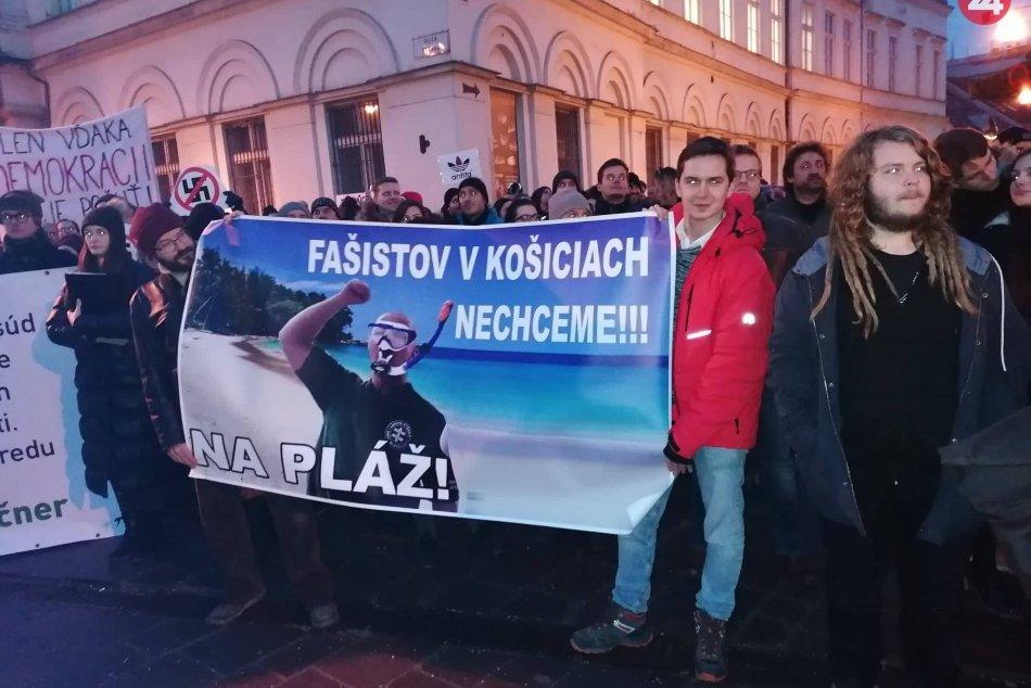V Košiciach protestovali proti ĽSNS
