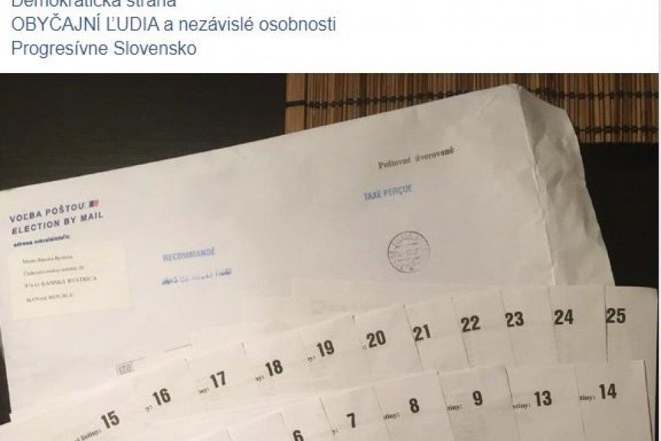 Slováci v zahraničí dostali chybné zásielky s hlasovacími lístkami
