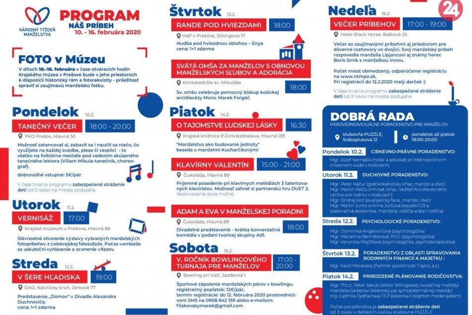 Obrazom: Kompletný program Národného týždňa manželstva v Prešove