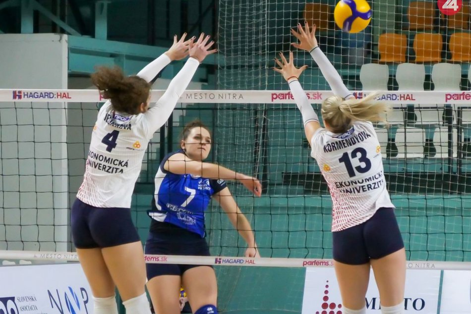Volley project UKF Nitra – VK Slávia EU Bratislava 3:2