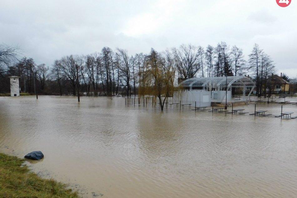 FOTO: Situácia v okrese Prievidza v spojitosti s daždivým počasím