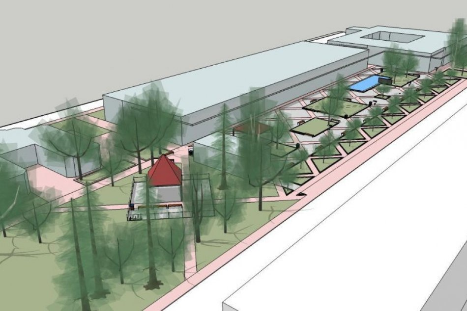 VIZUALIZÁCIE rekonštrukcie námestia na sídlisku Sihoť v Trenčíne