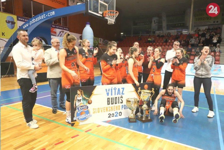 Basketbalistky MBK Ružomberok vyhrali Slovenský pohár
