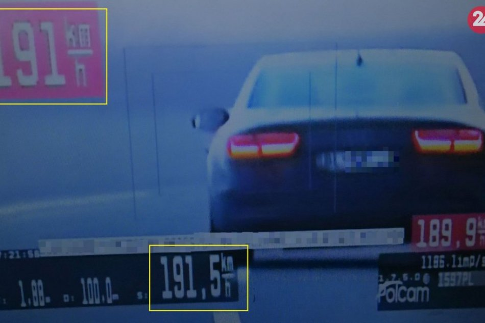 Po R1 uháňal vodič vyše 190 km/h