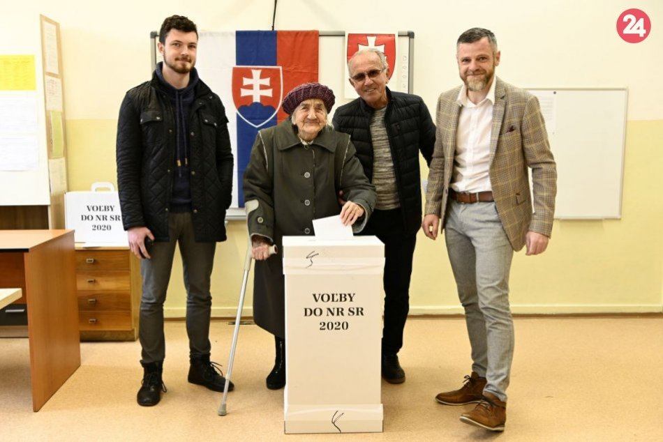 Volila aj 103-ročná pani Gizela Dvončová