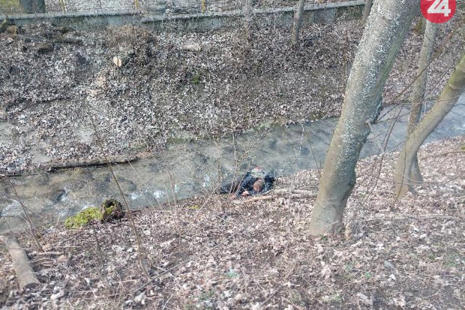 V OBRAZOCH: Mestskí policajti pomohli mužovi z potoka