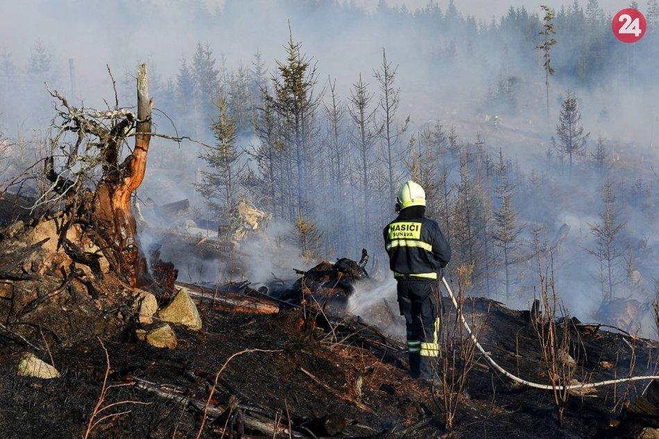 Lesný požiar pri Tatranskej Štrbe