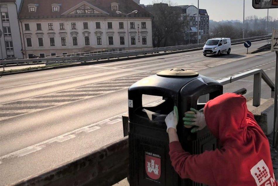 Dezinfekcia v Starom Meste v Bratislave