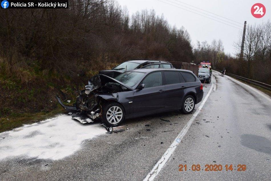 Obrazom: Dopravná nehoda v okrese Rožňava