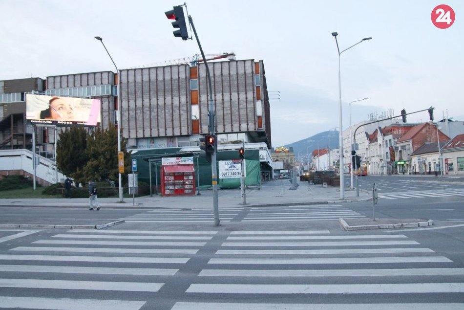 Ľudoprázdne ulice Nitry