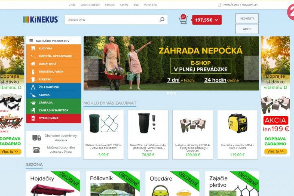 KiNEKUS: Pohodlný OnLINE nákup