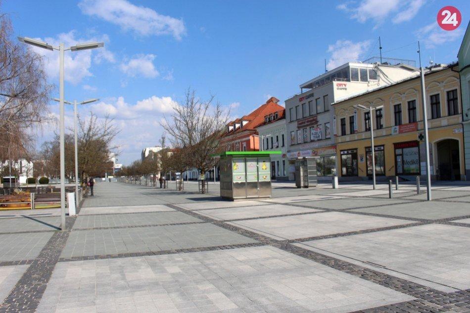 V OBRAZOCH: Ľudoprázdne ulice Zvolena, život utíchol aj v centre