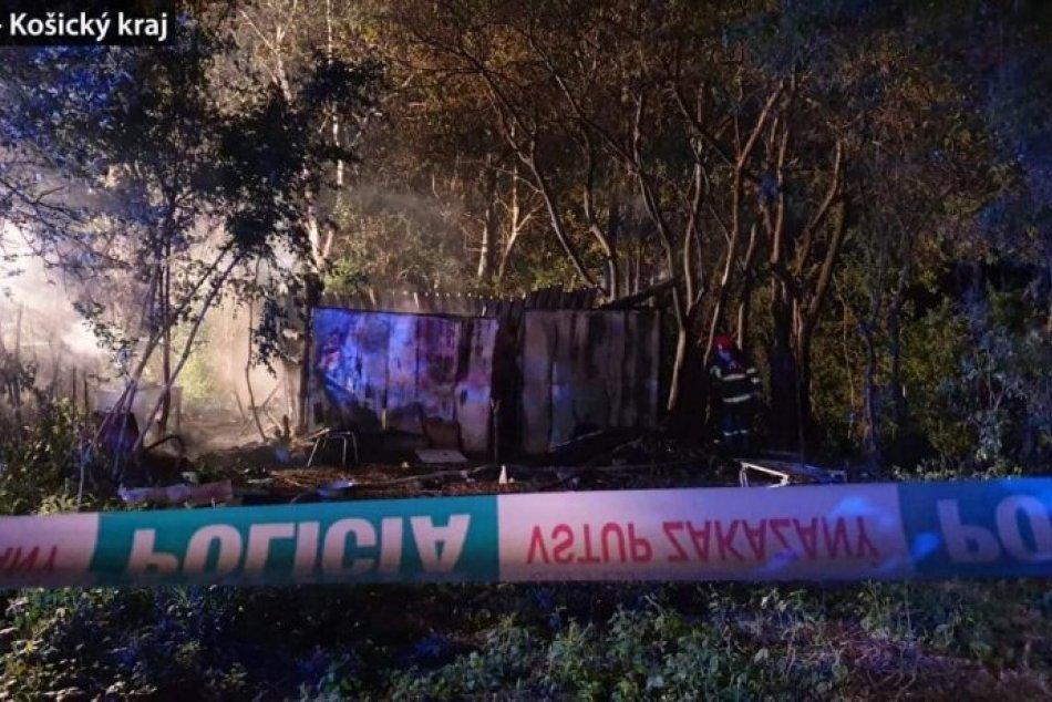 Obrazom: Požiar chatrče v Rožňave