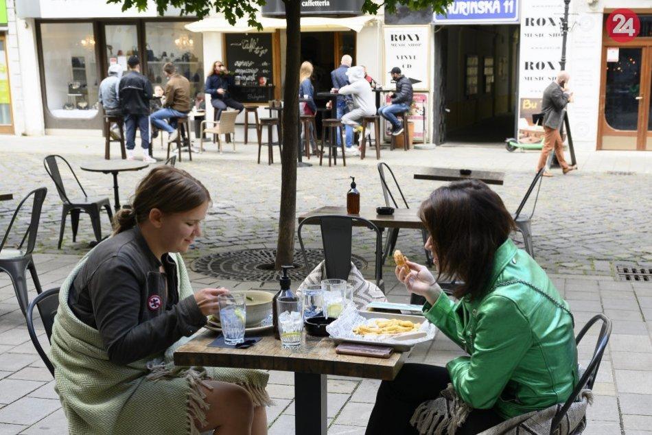 Znovuotvorenie - terasy podnikov, Bratislava
