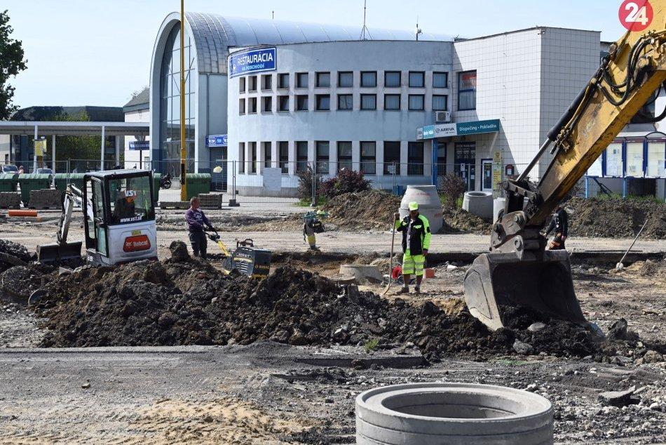 Výstavba autobusovej stanice v Michalovciach