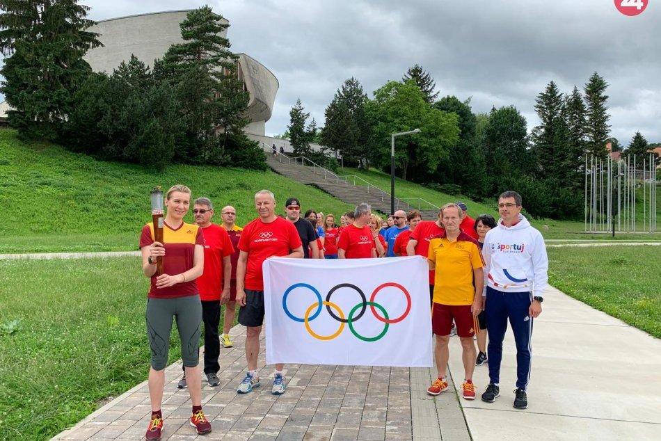 V OBRAZOCH: Olympijský deň v Bystrici podporila aj Anastasia Kuzminová