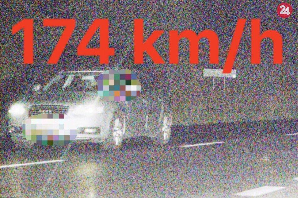 Vodič poriadne šliapol na plyn: Na 90-tke išiel až 174 km/h