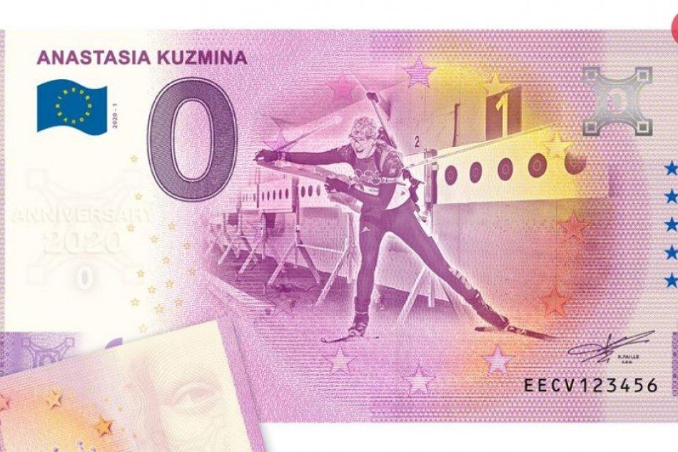 Nasťa Kuzminová na suvenírovej bankovke