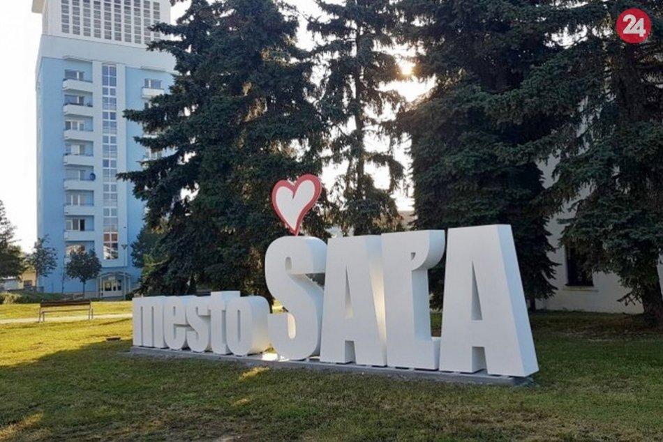 """3D nápis """"mesto ŠAĽA"""""""