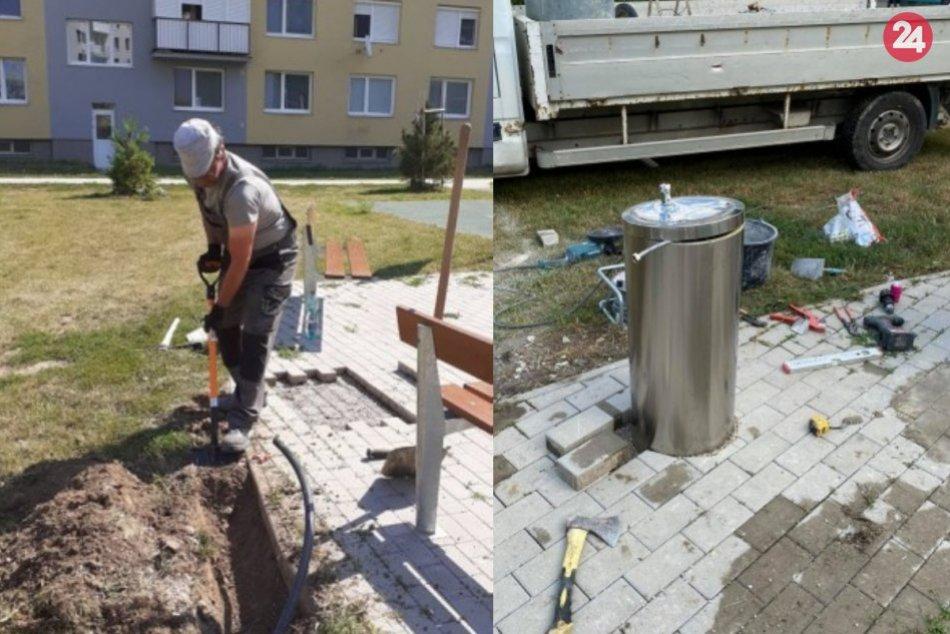 Vo Veči pribudnú dve fontánky s pitnou vodou