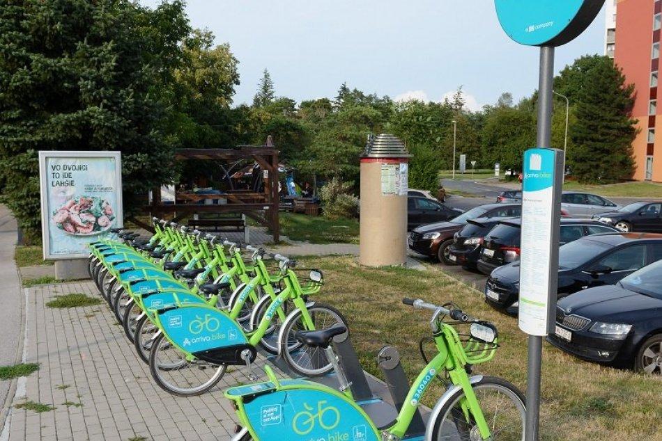 Zdieľané bicykle v uliciach Nitry