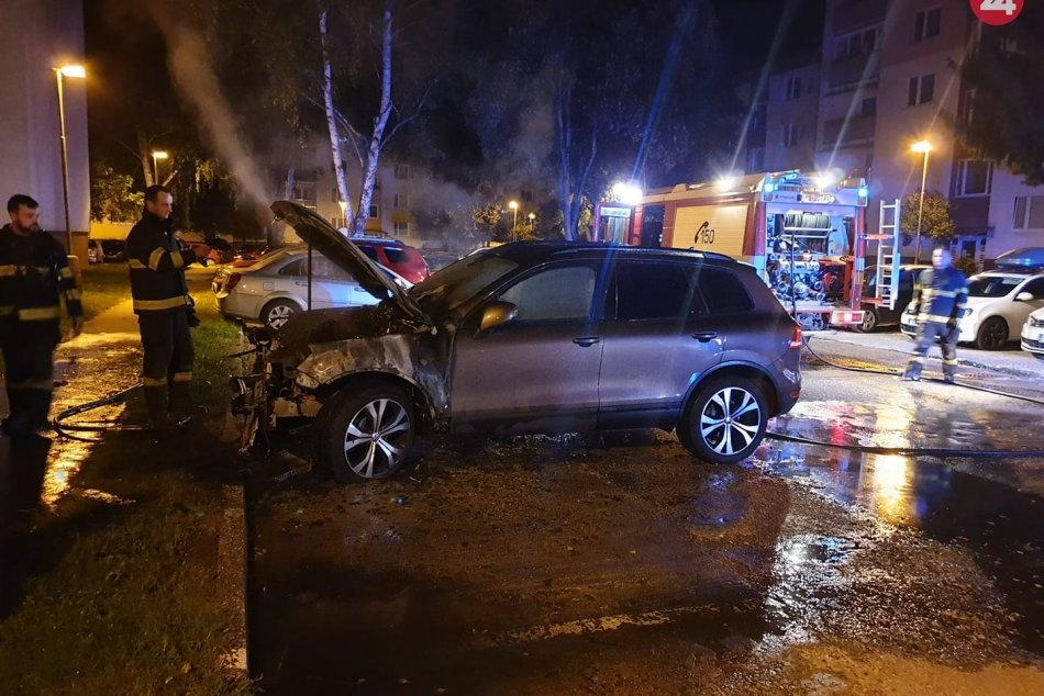 FOTO: Zhorené auto viceprimátora Petra Máťoša