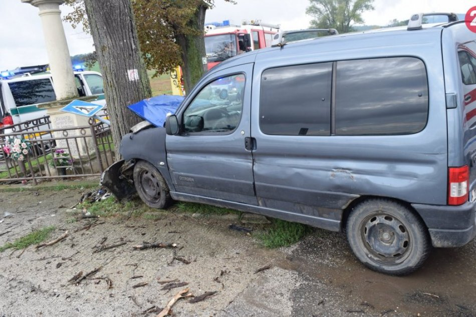 FOTO: Nemá vodičák, ale s 2,71 promile skončil v strome a 3 sa ľahko zranili