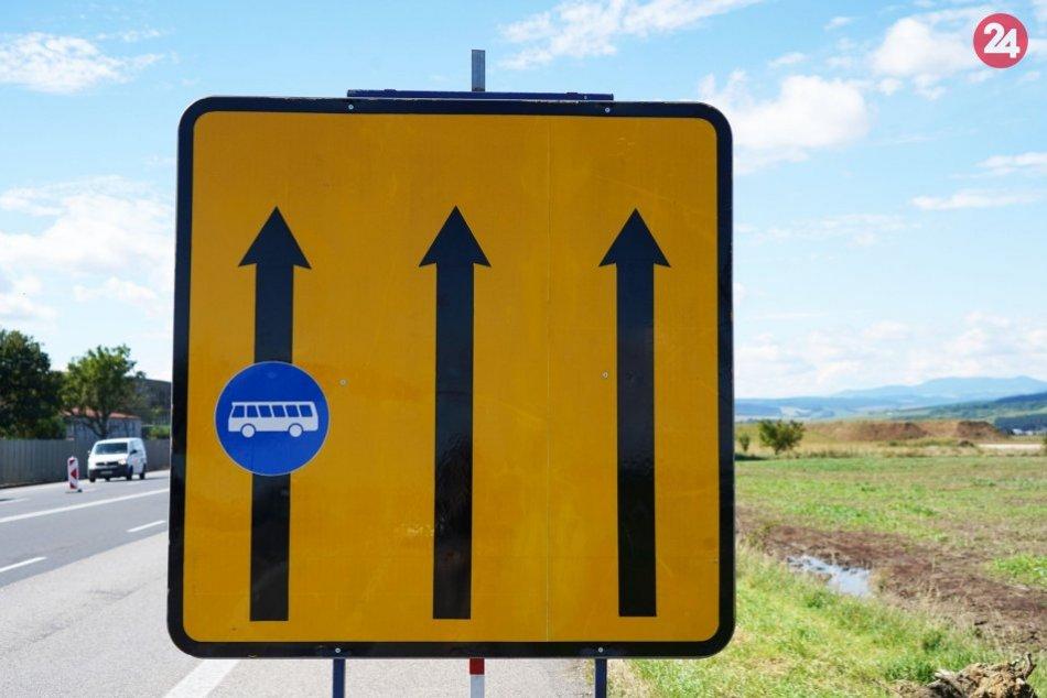 Obrazom: Zmena pri Prešove, pre autobusy tam vyhradili jazdný pruh