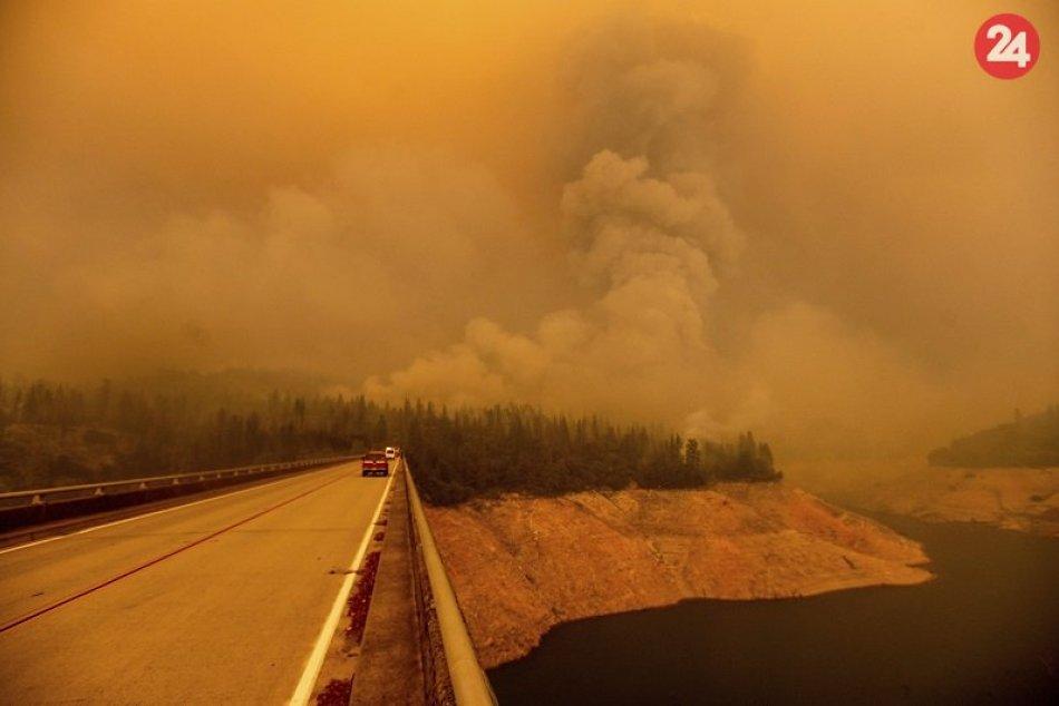 Lesný požiar v USA