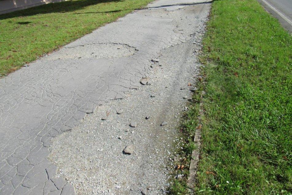 Obrazom: Najzdevastovanejšie chodníky v Prešove