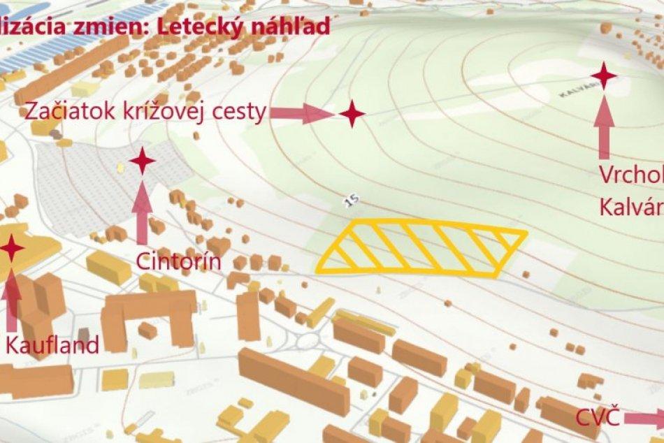 OBRAZOM: Dotknuté územie považskobystrickej Kalvárie