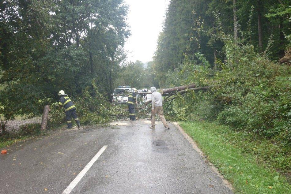 OBRAZOM: Zásahy hasičov vTrenčianskom kraji kvôli zlému počasiu