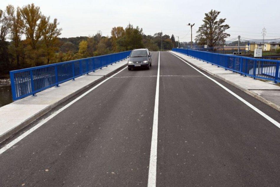 Vynovený most v Strážskom