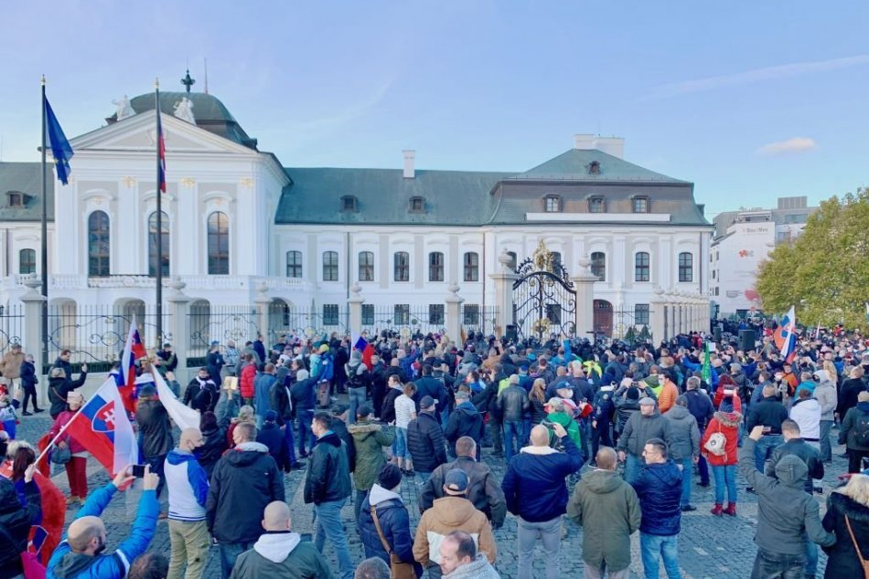 Protesty proti vláde v Bratislave