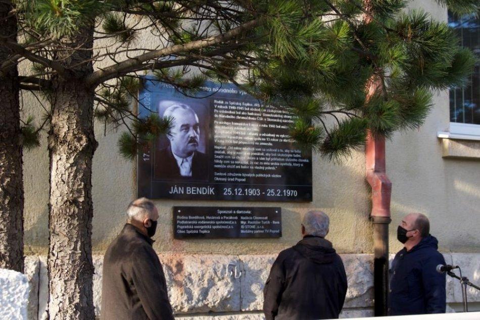 Odhalenie pamätnej tabule v Poprade