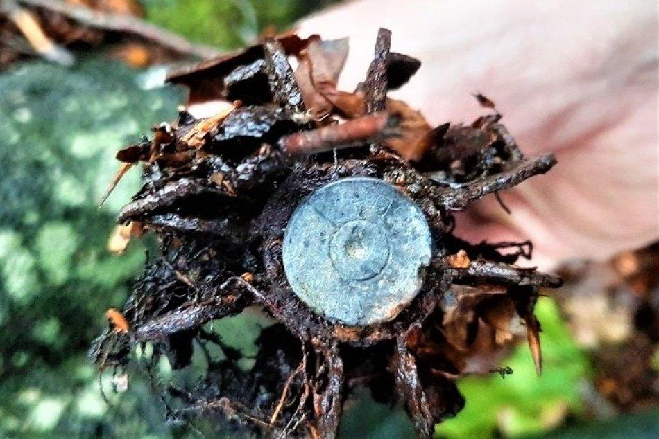 FOTO: V lese pri Valaskej Belej našiel muž granáty z druhej svetovej vojny